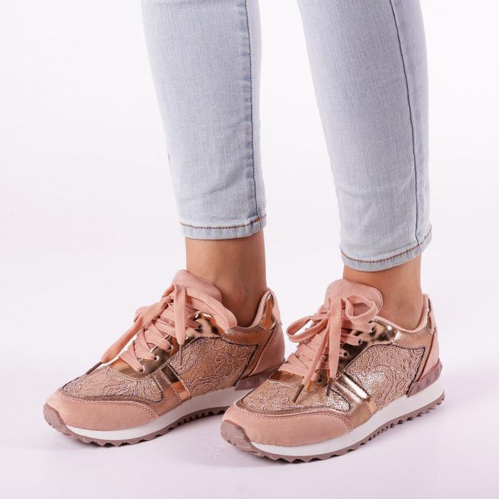 Pantofi sport dama Olena roz 1