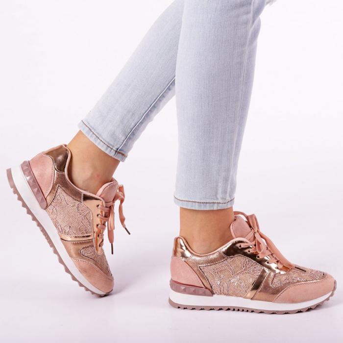 Pantofi sport dama Olena roz 0