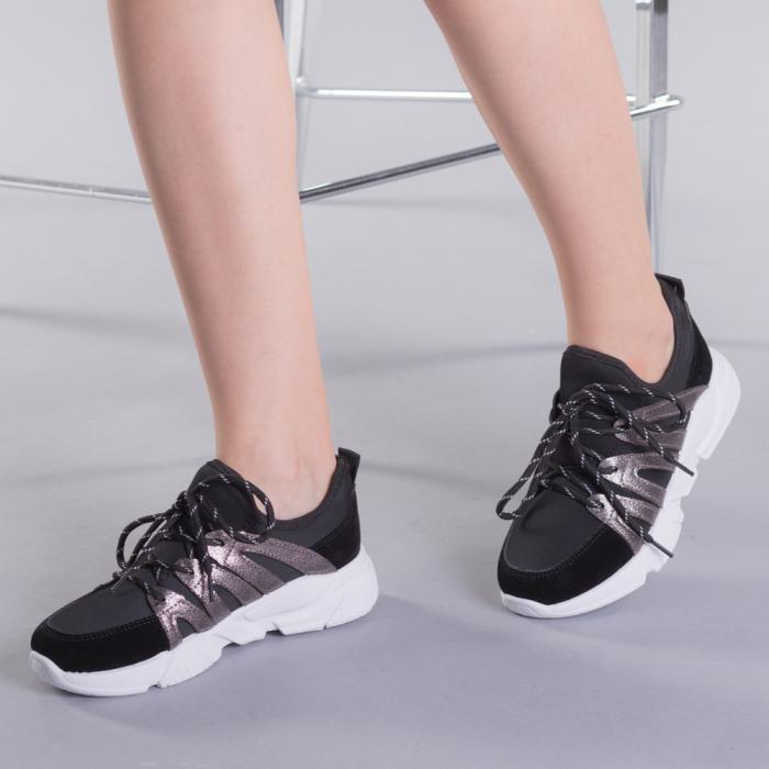Pantofi sport dama Olga negri 0