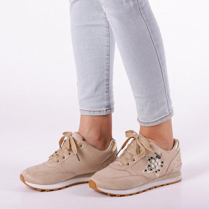 Pantofi sport dama Onora bej 3