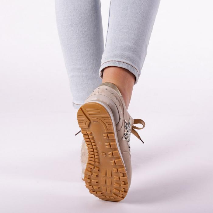 Pantofi sport dama Onora bej 4
