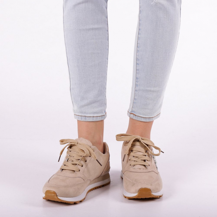 Pantofi sport dama Onora bej 5