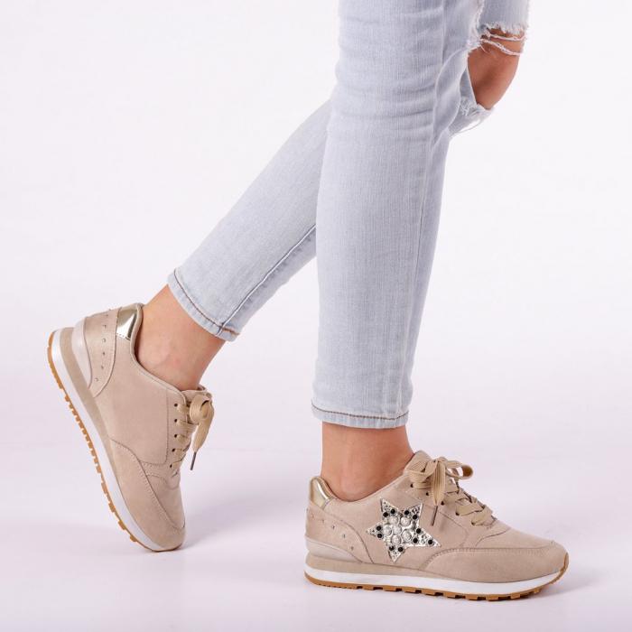 Pantofi sport dama Onora bej 0