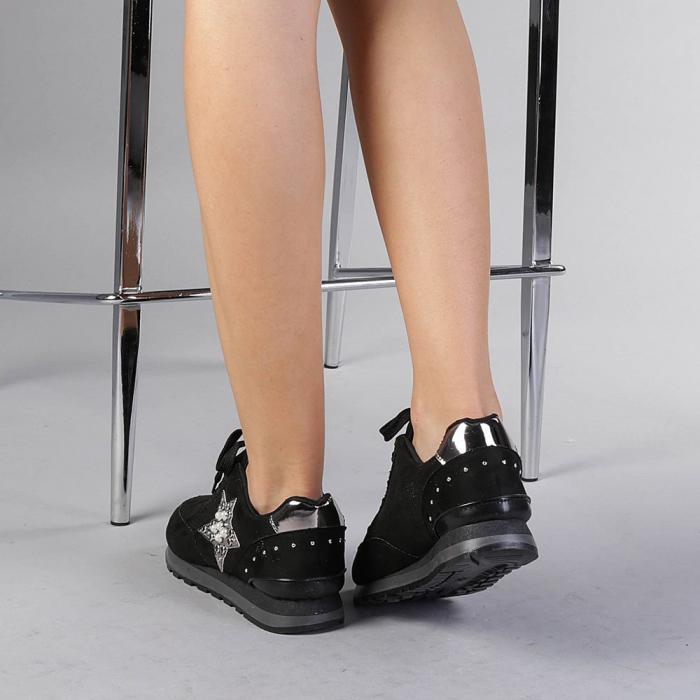 Pantofi sport dama Onora negri 3