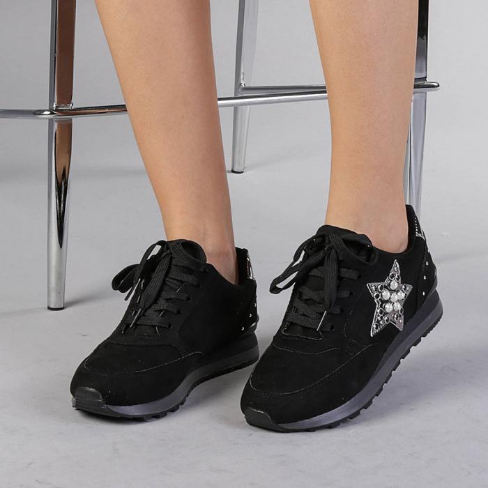 Pantofi sport dama Onora negri 0