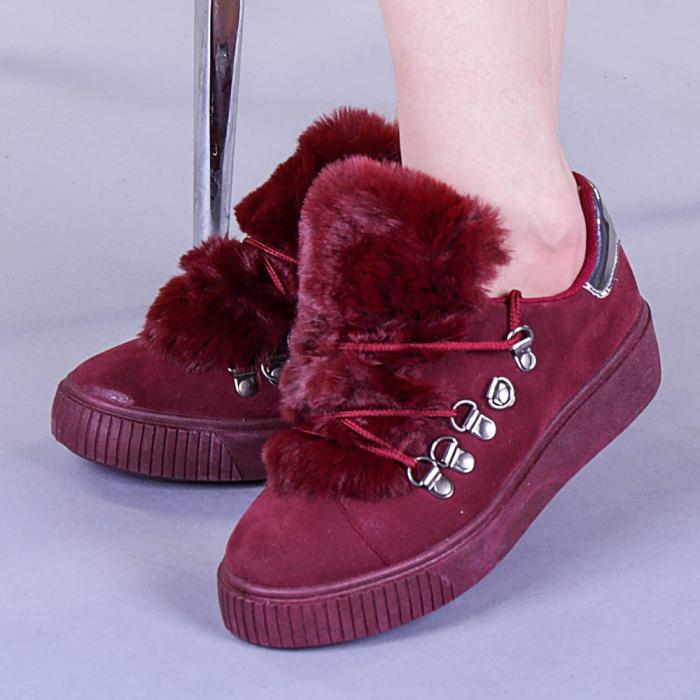 Pantofi sport dama Pamela grena 0