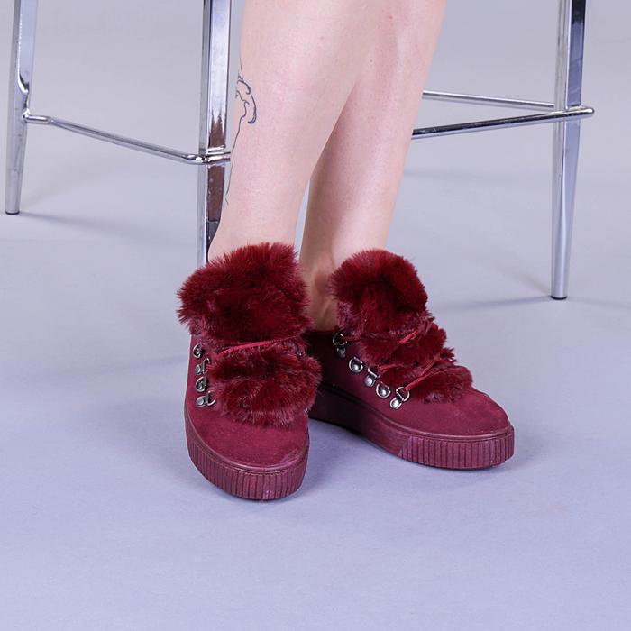 Pantofi sport dama Pamela grena 1