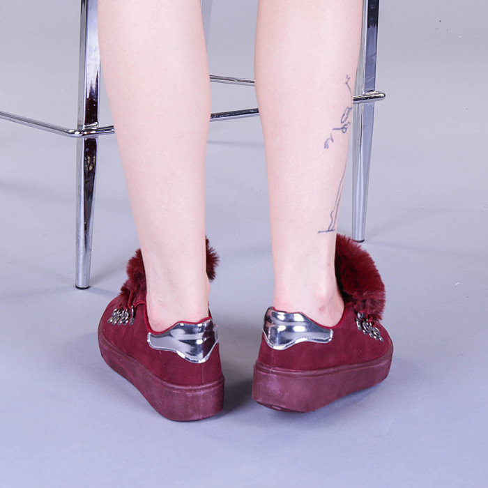 Pantofi sport dama Pamela grena 3