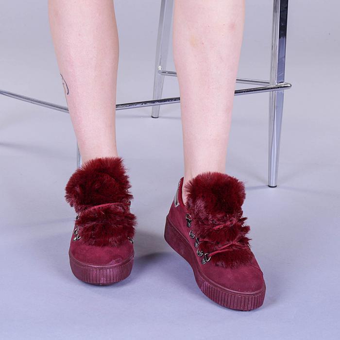 Pantofi sport dama Pamela grena 2