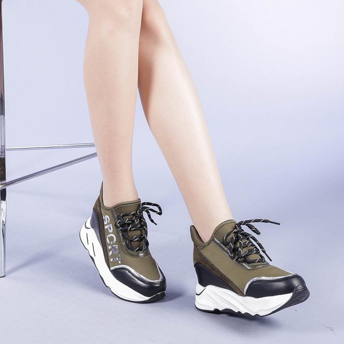 Pantofi sport dama Petrina verzi 1