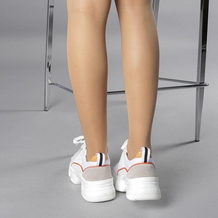 Pantofi sport dama Rane alb cu rosu 3