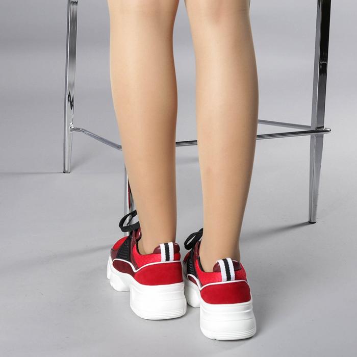 Pantofi sport dama Rane rosii 3