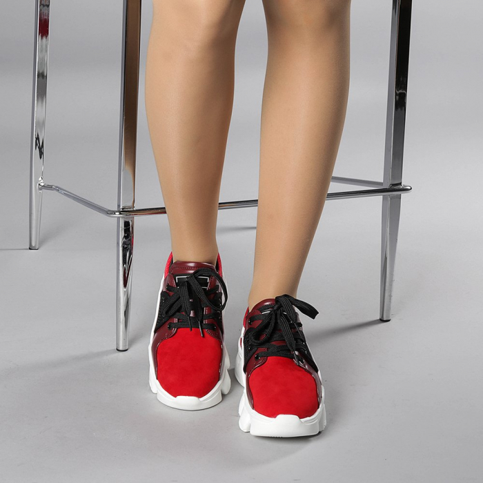 Pantofi sport dama Rane rosii 1