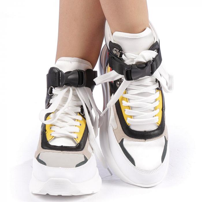 Pantofi sport dama Renee albi 4