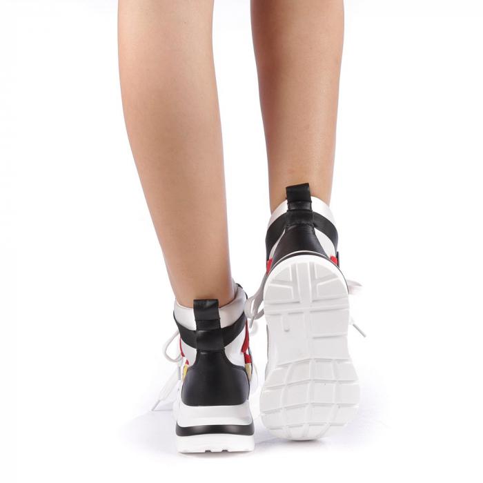 Pantofi sport dama Renee albi 2