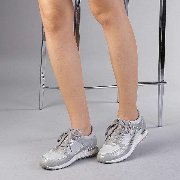 Pantofi sport dama Ressie argintii 2