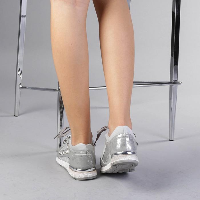 Pantofi sport dama Ressie argintii 3