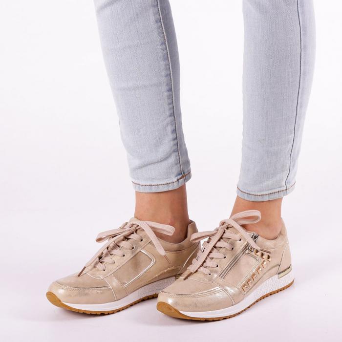 Pantofi sport dama Ressie bej 3