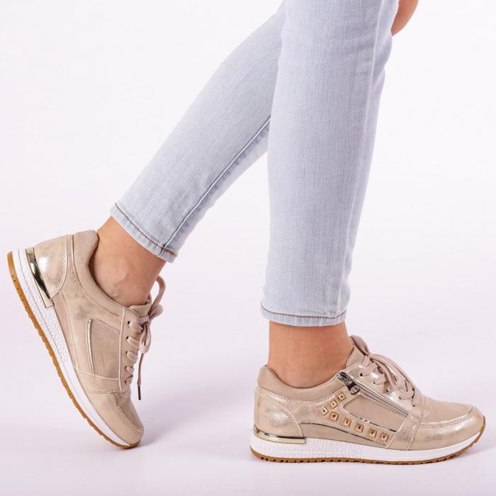 Pantofi sport dama Ressie bej 0