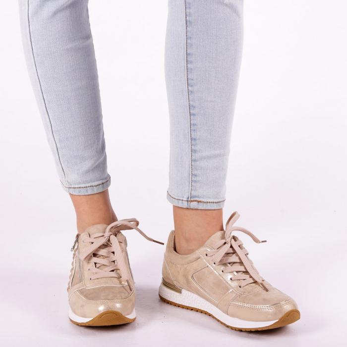 Pantofi sport dama Ressie bej 5