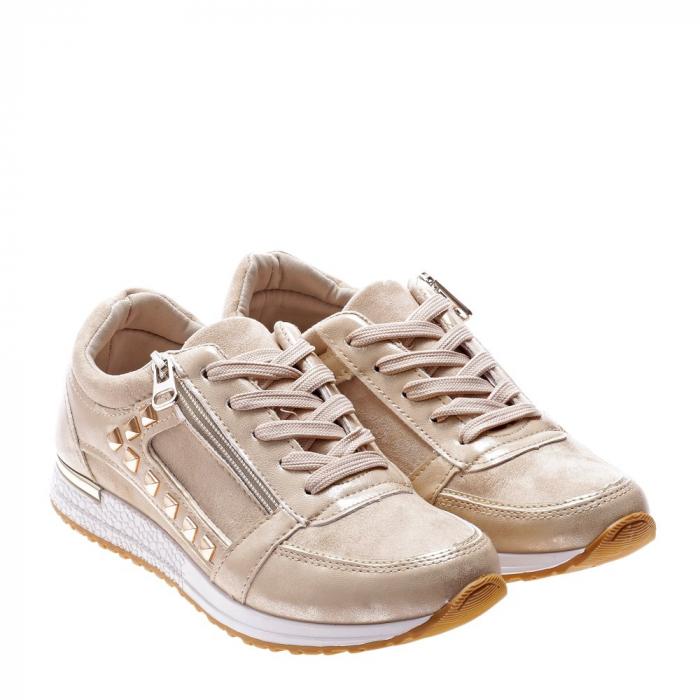 Pantofi sport dama Ressie bej 2