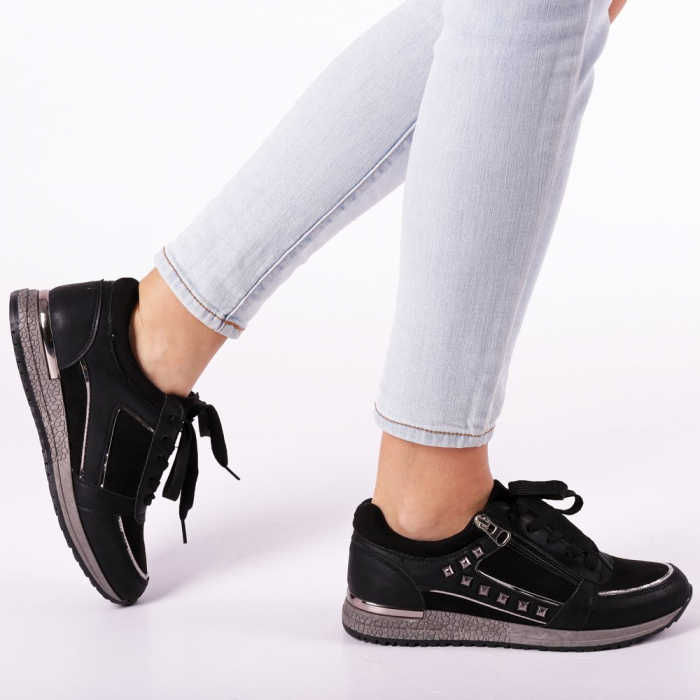 Pantofi sport dama Ressie negri 0