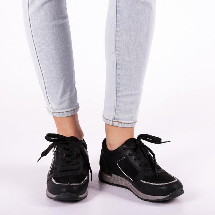 Pantofi sport dama Ressie negri 3