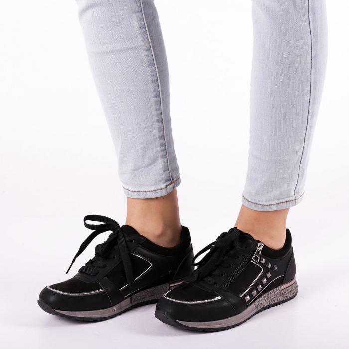 Pantofi sport dama Ressie negri 1