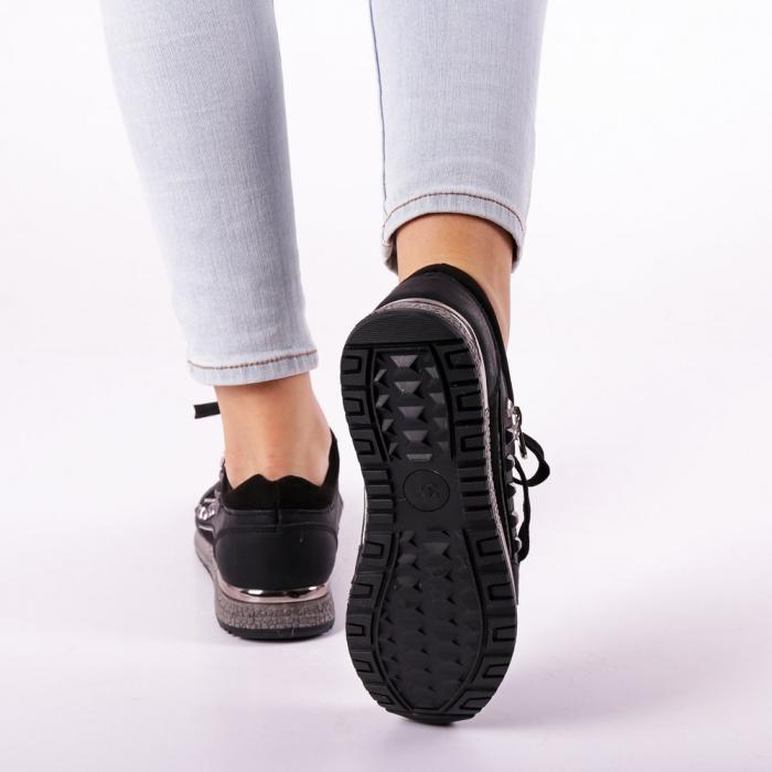 Pantofi sport dama Ressie negri 2
