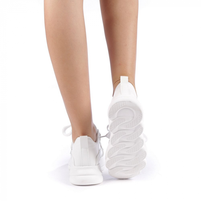 Pantofi sport dama Rika albi 2
