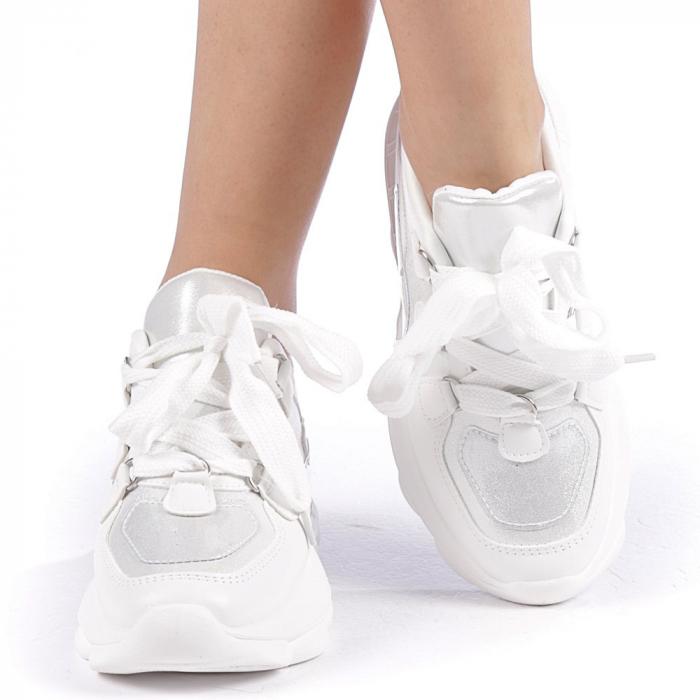 Pantofi sport dama Rika albi 4