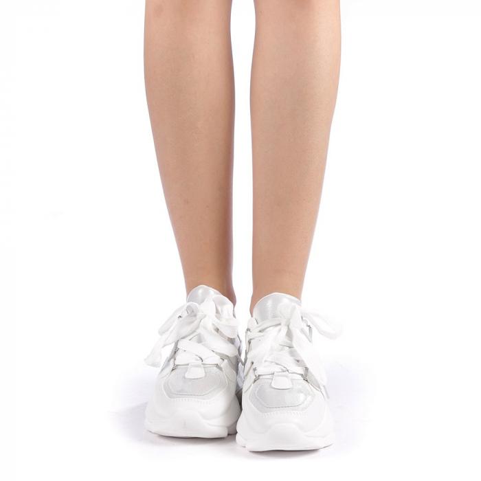 Pantofi sport dama Rika albi 3