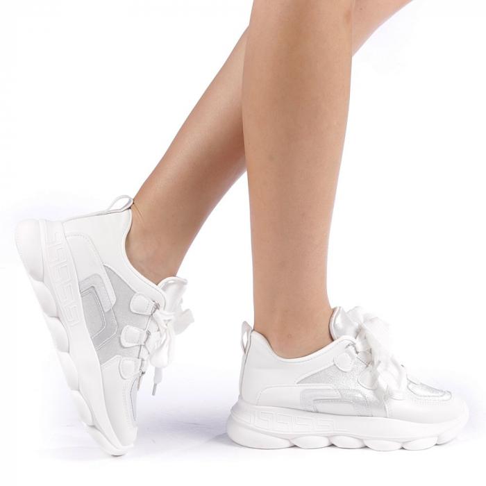 Pantofi sport dama Rika albi 0