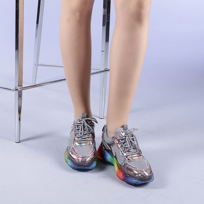 Pantofi sport dama Riya gri 1