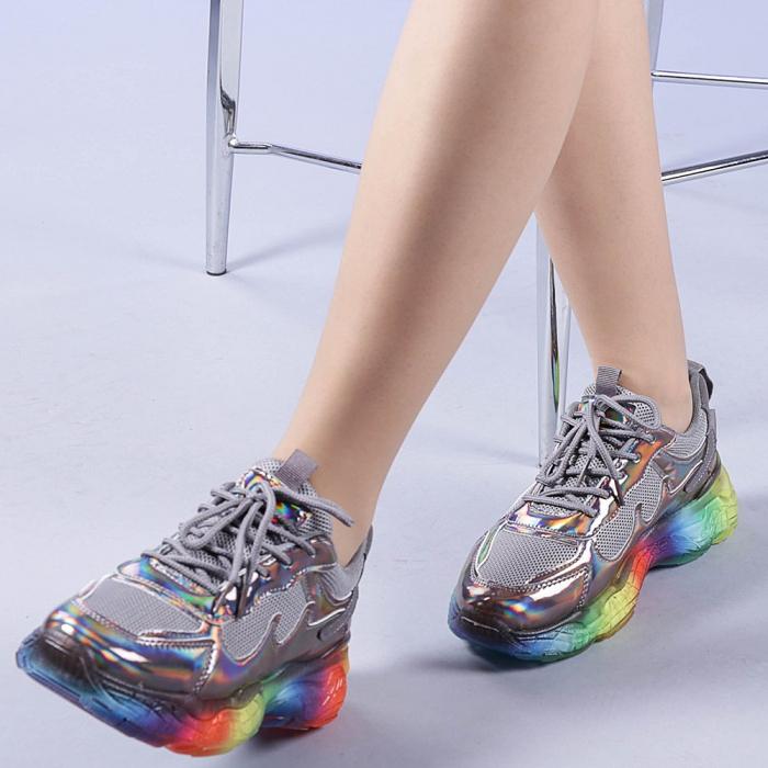 Pantofi sport dama Riya gri 0
