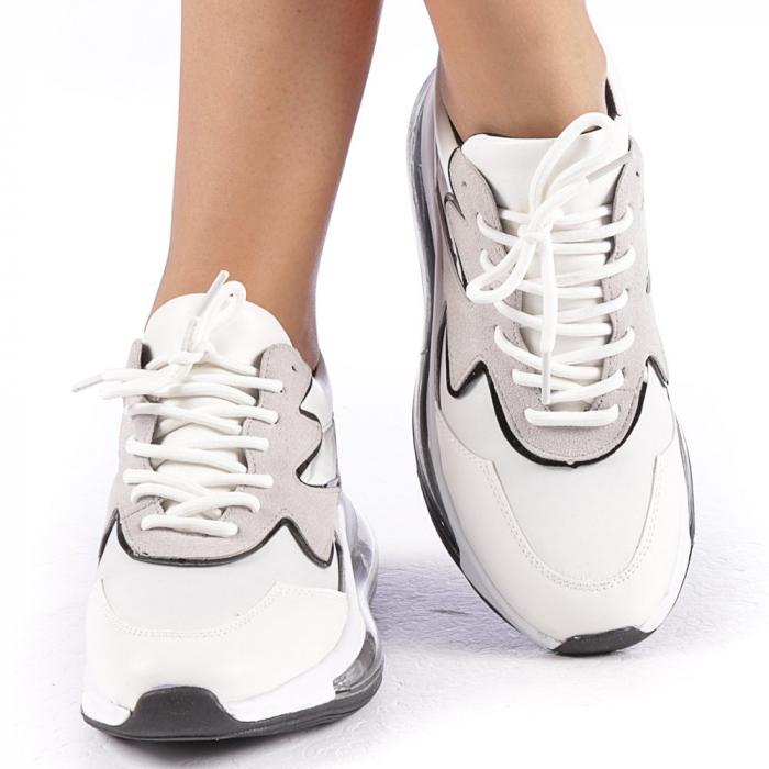 Pantofi sport dama Sadal albi 4