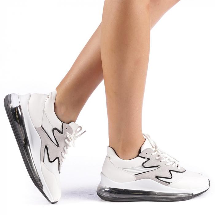 Pantofi sport dama Sadal albi 0