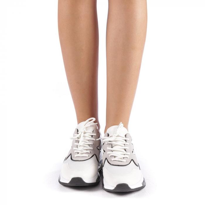 Pantofi sport dama Sadal albi 3