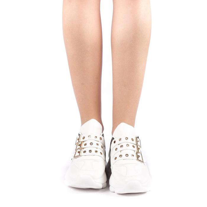 Pantofi sport dama Sandrina albi 3