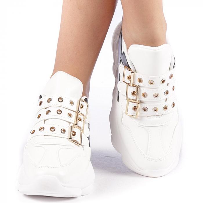 Pantofi sport dama Sandrina albi 4