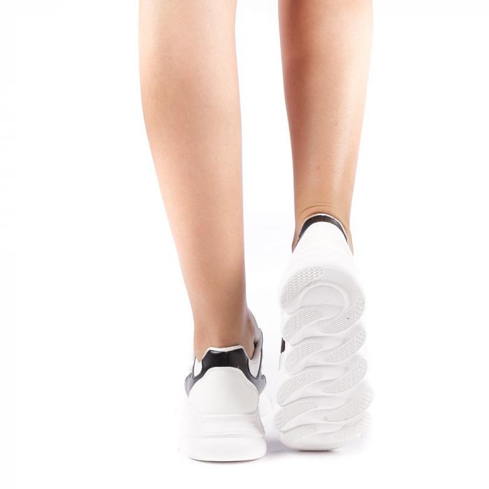 Pantofi sport dama Sandrina albi 2