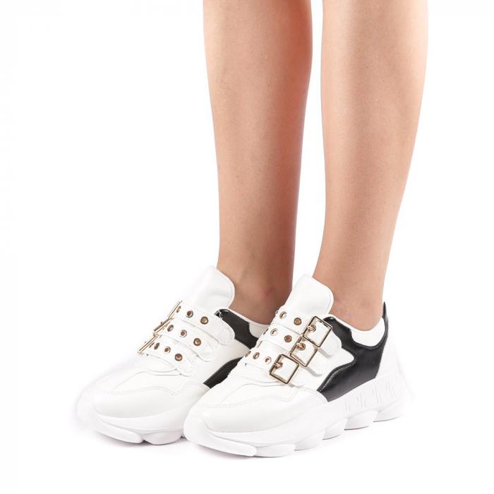 Pantofi sport dama Sandrina albi 1