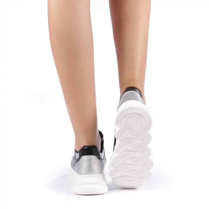 Pantofi sport dama Sandrina argintii 2
