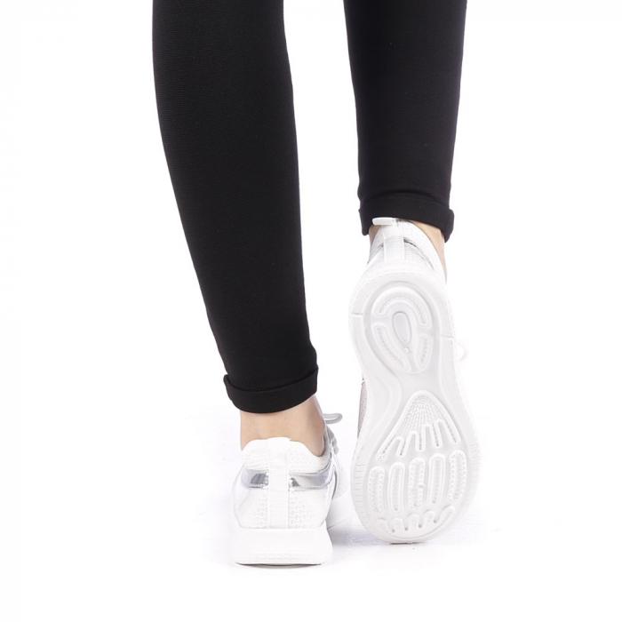 Pantofi sport dama Setena albi 3