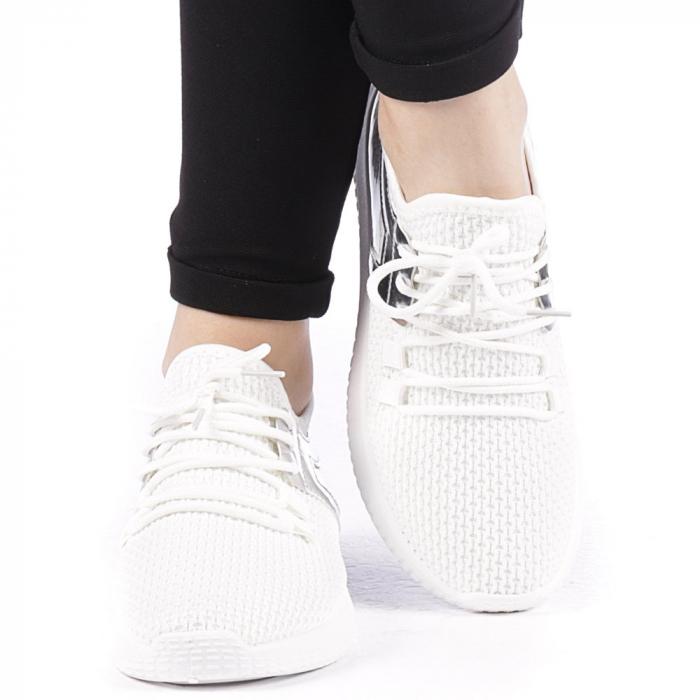 Pantofi sport dama Setena albi 1