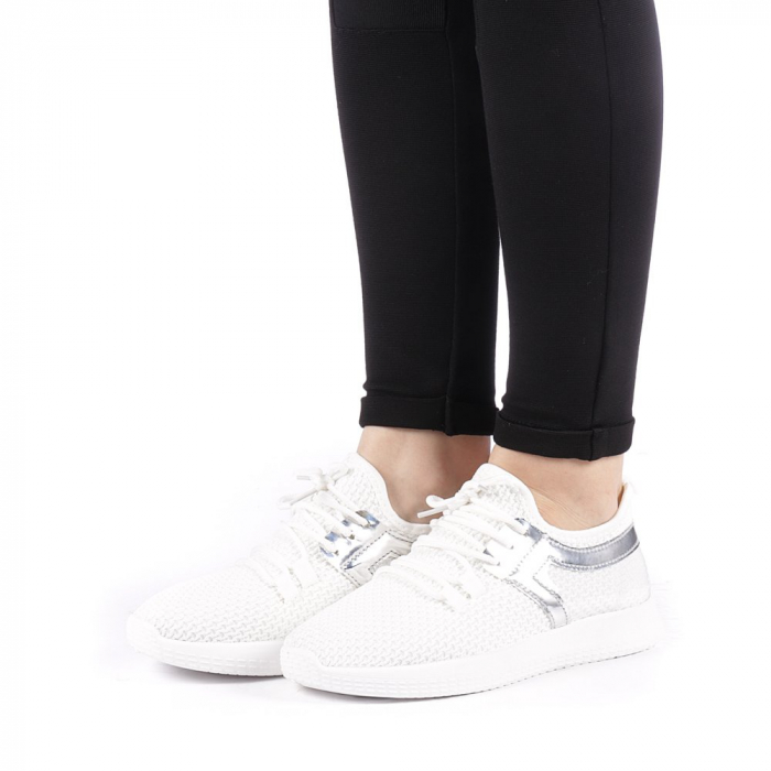Pantofi sport dama Setena albi 2