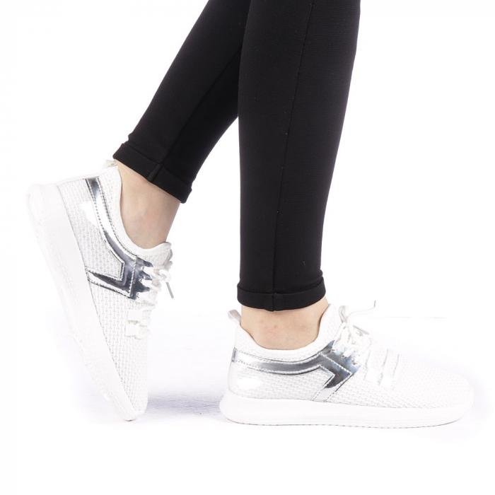 Pantofi sport dama Setena albi 0