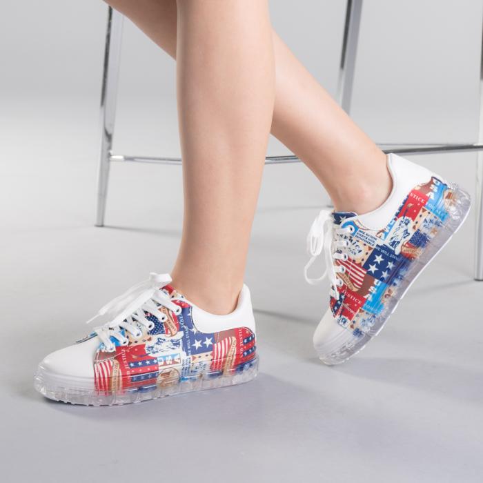 Pantofi sport dama Sorina rosii 2