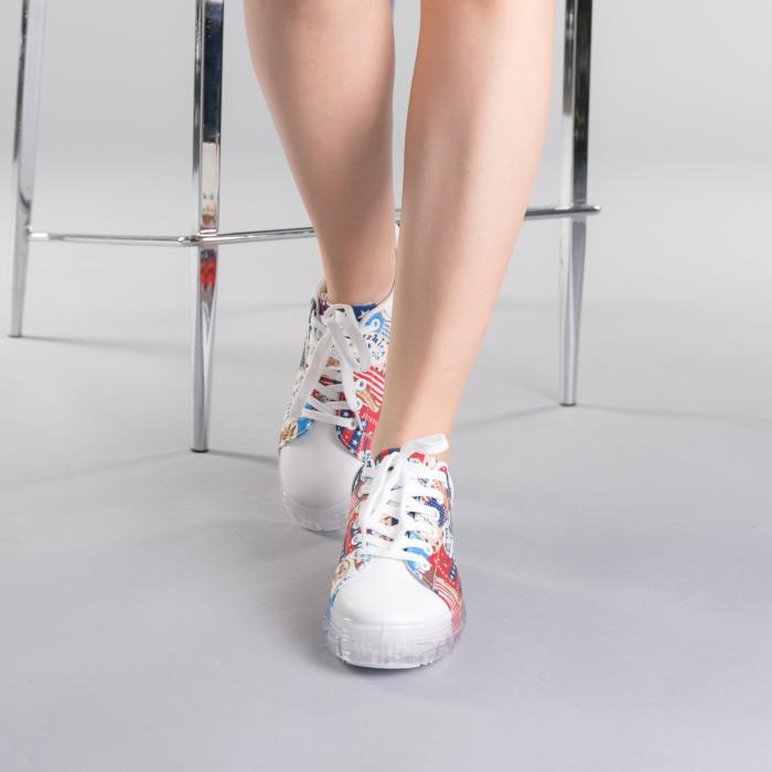 Pantofi sport dama Sorina rosii 1