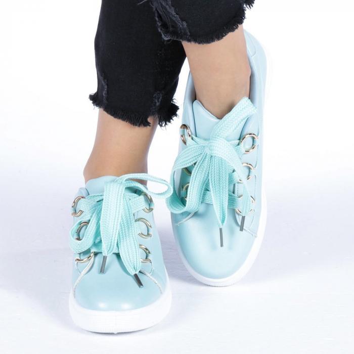 Pantofi sport dama Stefania albastri 4